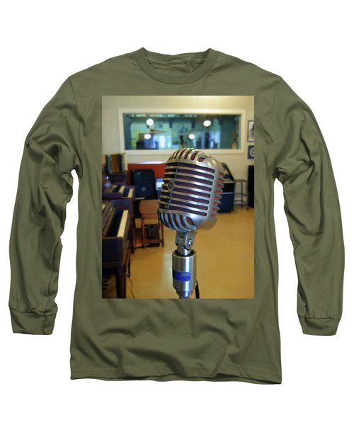Long Sleeve T-Shirt featuring the photograph Elvis Presley Microphone by Mark Czerniec