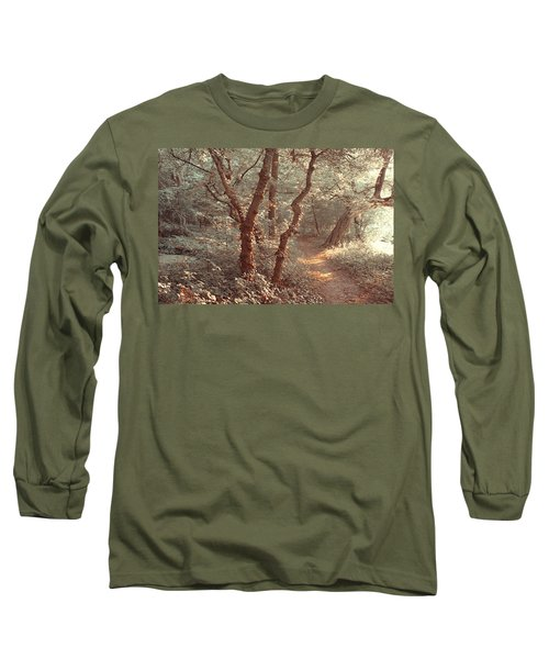 Long Sleeve T-Shirt featuring the photograph Elvish Forest. Nature In Alien Skin by Jenny Rainbow