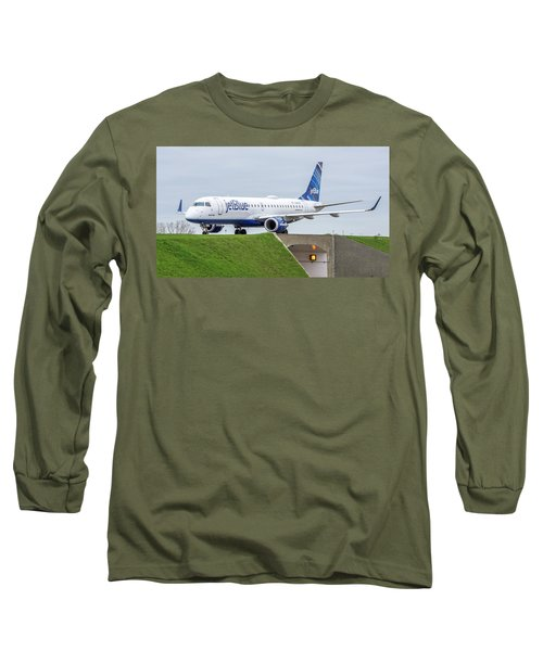 Embraer Emb190 N348jb Long Sleeve T-Shirt