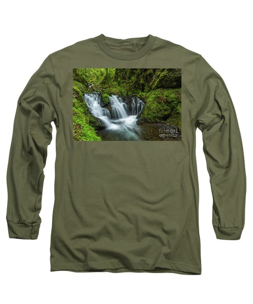 Emeral Falls Waterscape Art By Kaylyn Franks Long Sleeve T-Shirt