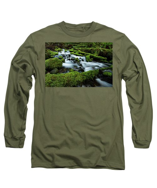 Emerald Flow Long Sleeve T-Shirt