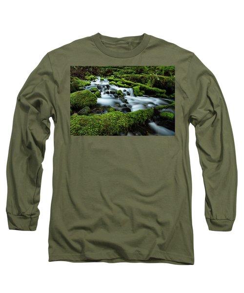 Emerald Flow Long Sleeve T-Shirt