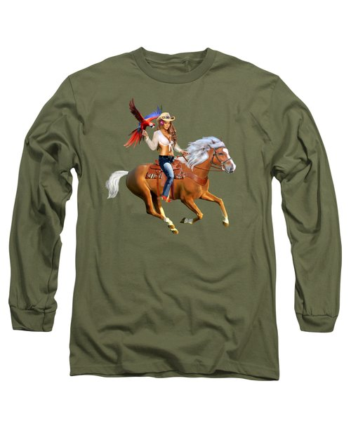 Enchanted Jungle Rider Long Sleeve T-Shirt by Glenn Holbrook