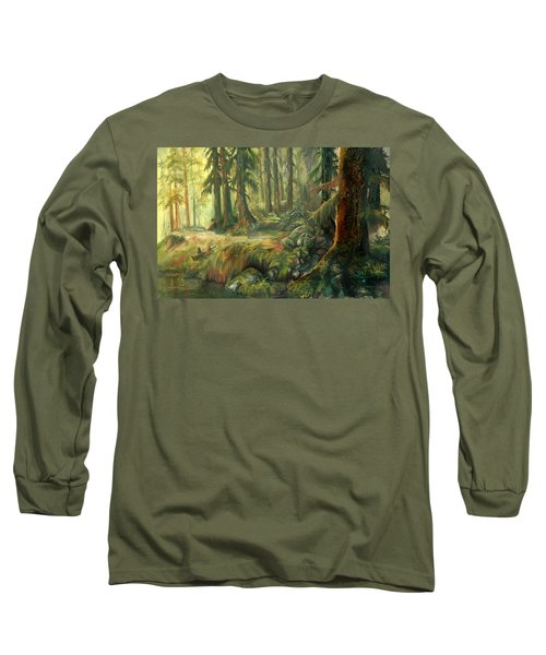 Enchanted Rain Forest Long Sleeve T-Shirt by Sherry Shipley