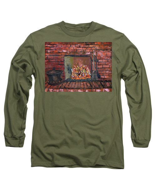 Long Sleeve T-Shirt featuring the painting Enchanting Fire by Michael Daniels