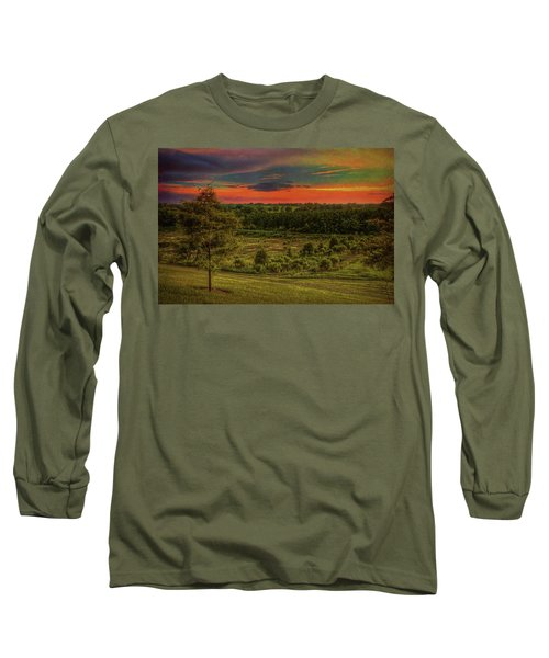 Long Sleeve T-Shirt featuring the photograph End Of Day by Lewis Mann