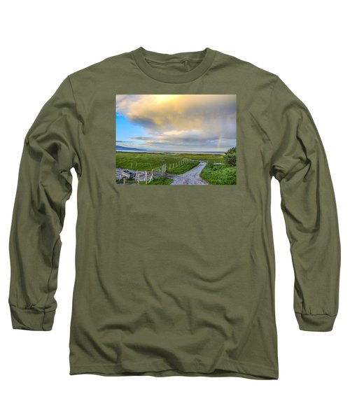 Long Sleeve T-Shirt featuring the photograph End Of The Road, Brora, Scotland by Sally Ross