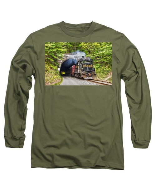 Engine 501 Coming Through The Brush Tunnel Long Sleeve T-Shirt