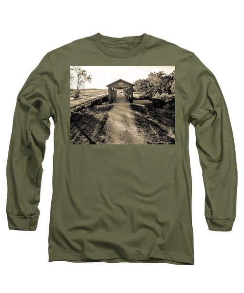 Engle Mill Covered Bridge Long Sleeve T-Shirt