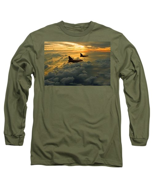 English Electric Lightning Sunset Flight Long Sleeve T-Shirt