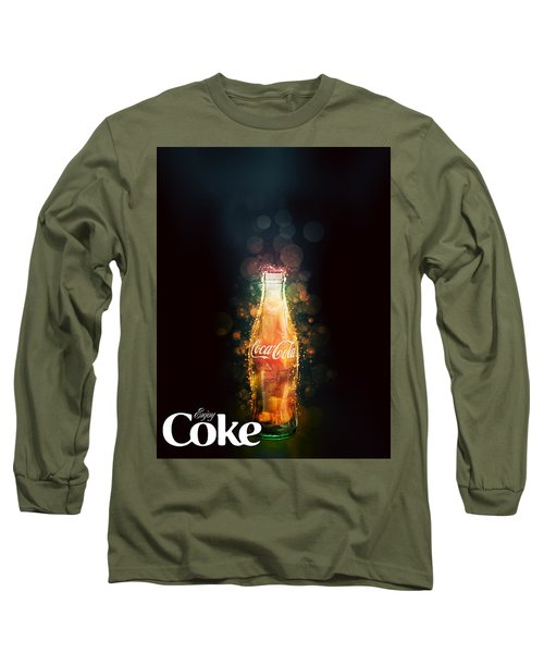 Enjoy Coca-cola With Bubbles Long Sleeve T-Shirt