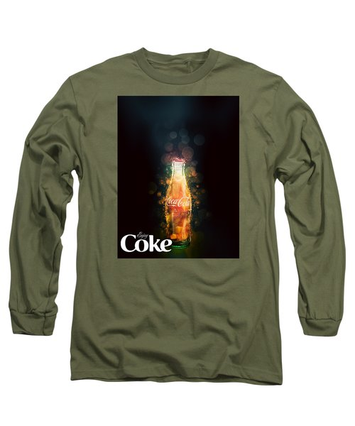 Long Sleeve T-Shirt featuring the photograph Enjoy Coca-cola With Bubbles by James Sage