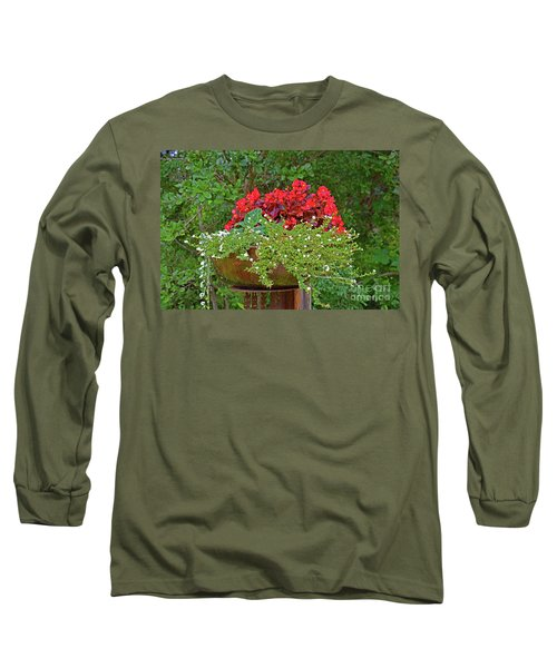 Enjoy The Garden Long Sleeve T-Shirt by Ray Shrewsberry