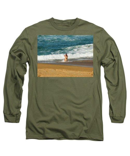 Enjoying The Ocean Long Sleeve T-Shirt