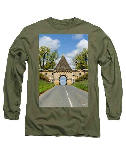Entrance To Burghley House Long Sleeve T-Shirt