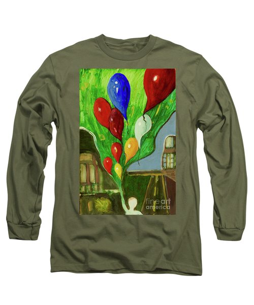 Long Sleeve T-Shirt featuring the painting Escape by Paul McKey