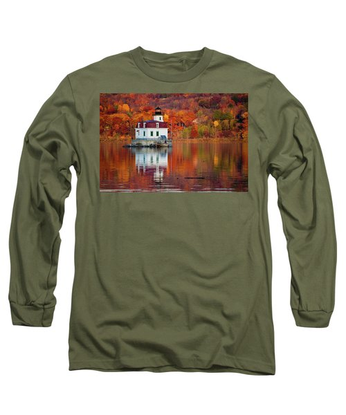 Long Sleeve T-Shirt featuring the photograph Esopus Lighthouse In Late Fall #2 by Jeff Severson