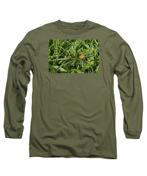 Long Sleeve T-Shirt featuring the photograph Essex Skipper 2 by Leif Sohlman