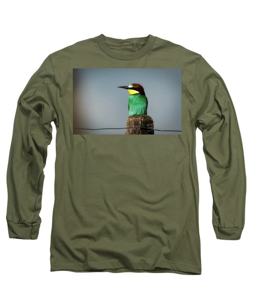Long Sleeve T-Shirt featuring the photograph European Bee Eater by Wolfgang Vogt