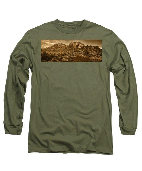 Evening At Dry Creek Vista Tnt Long Sleeve T-Shirt