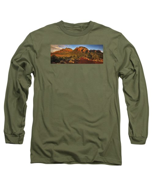 Evening At Dry Creek Vista Txt Long Sleeve T-Shirt