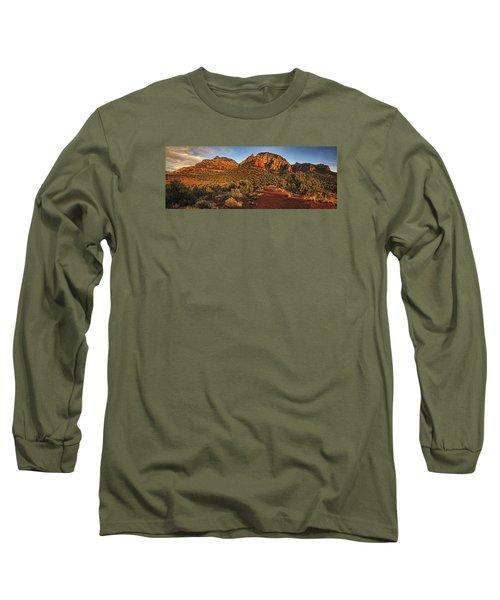 Evening At Dry Creek Vista Txt Long Sleeve T-Shirt