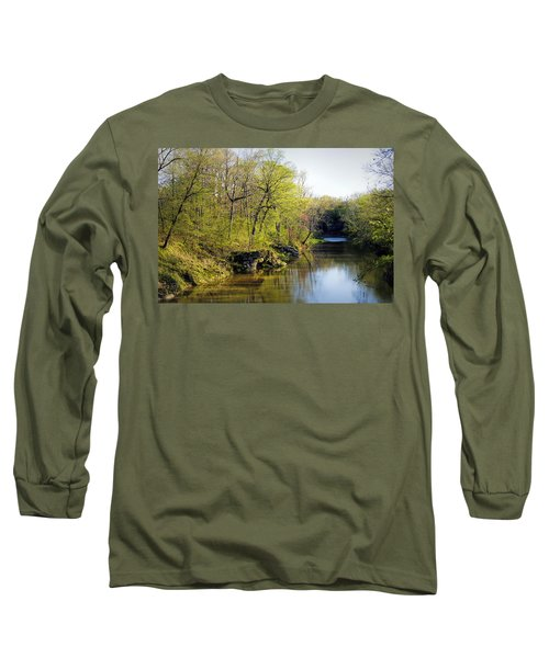Evening Falls On Cedar Creek Long Sleeve T-Shirt