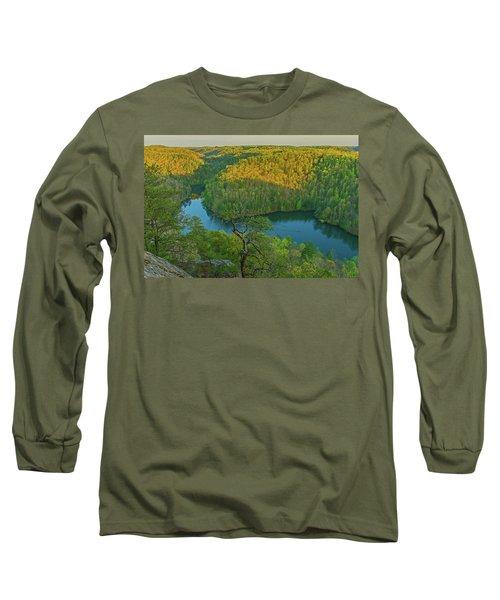 Evening Light In The Hills. Long Sleeve T-Shirt by Ulrich Burkhalter
