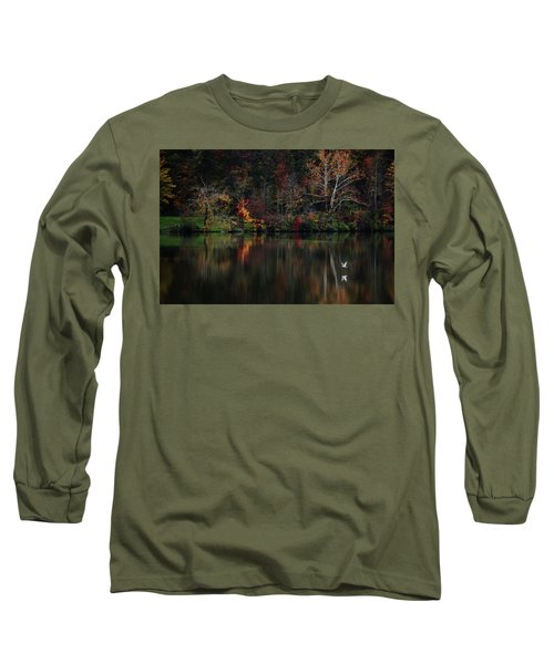 Long Sleeve T-Shirt featuring the photograph Evening On The Lake by Rowana Ray