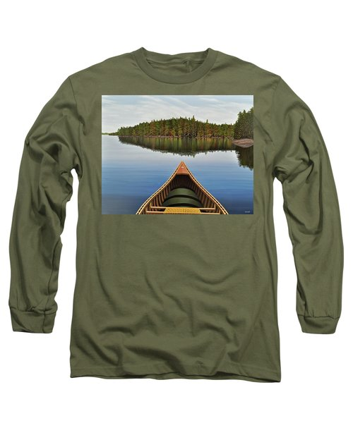 Evening Paddle  Long Sleeve T-Shirt by Kenneth M  Kirsch
