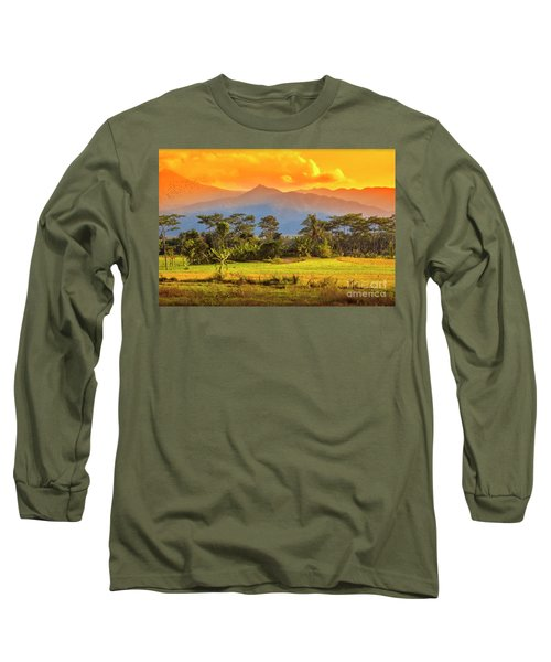 Long Sleeve T-Shirt featuring the photograph Evening Scene by Charuhas Images