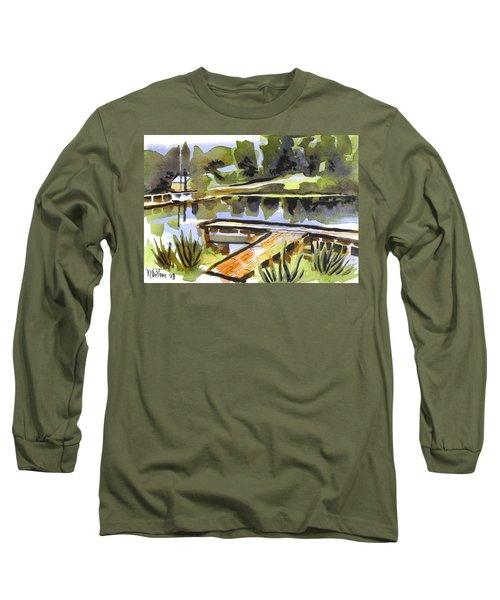 Evening Shadows At Shepherd Mountain Lake Long Sleeve T-Shirt