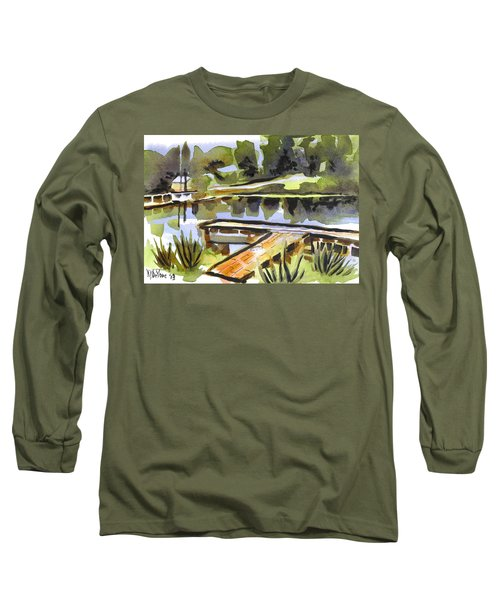 Evening Shadows At Shepherd Mountain Lake Long Sleeve T-Shirt