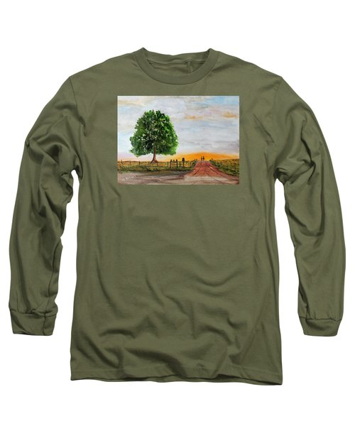 Long Sleeve T-Shirt featuring the painting Evening Stroll by Jack G Brauer