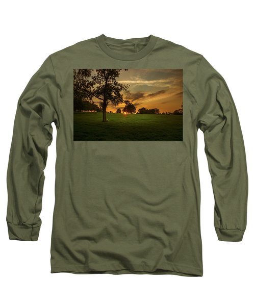 Long Sleeve T-Shirt featuring the photograph Evening Sun Over Brockwell Park by Lenny Carter
