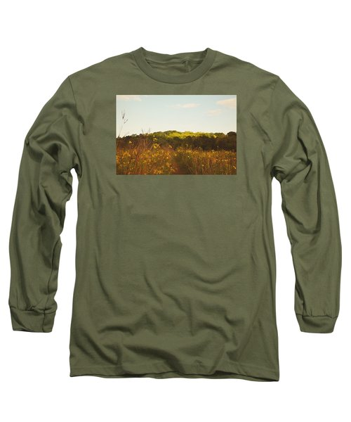 Long Sleeve T-Shirt featuring the photograph Evening Sunset Glow by Nikki McInnes
