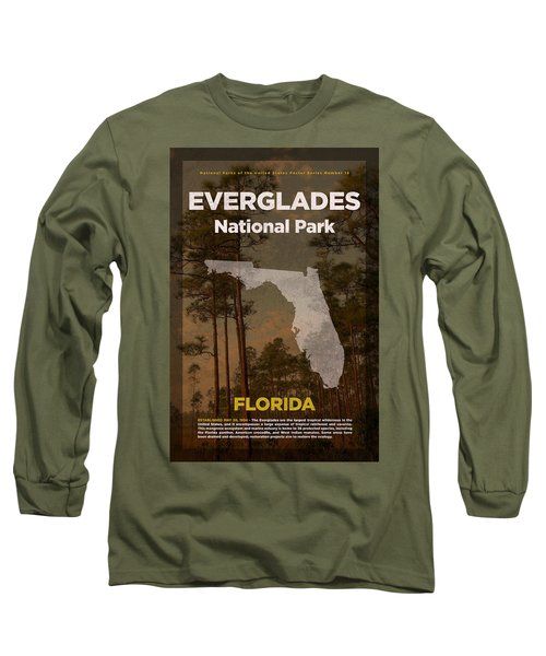 Everglades National Park In Florida Travel Poster Series Of National Parks Number 15 Long Sleeve T-Shirt
