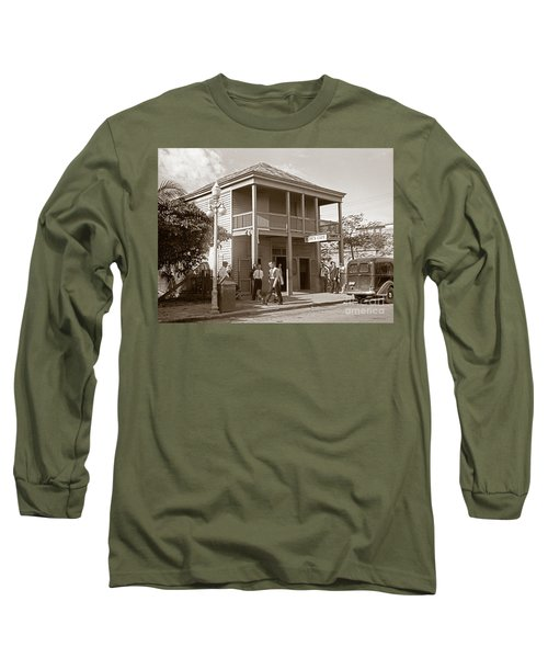 Long Sleeve T-Shirt featuring the photograph Everyone Says Hi - From Pepes Cafe Key West Florida by John Stephens