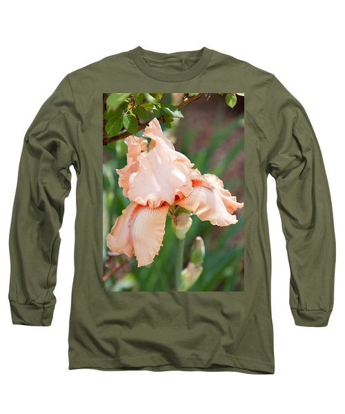 Long Sleeve T-Shirt featuring the photograph Everything Is Peachy by Sherry Hallemeier