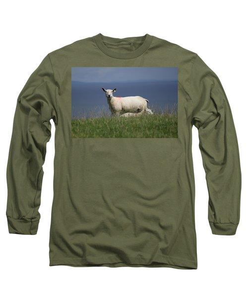 Ewe Guarding Lamb Long Sleeve T-Shirt