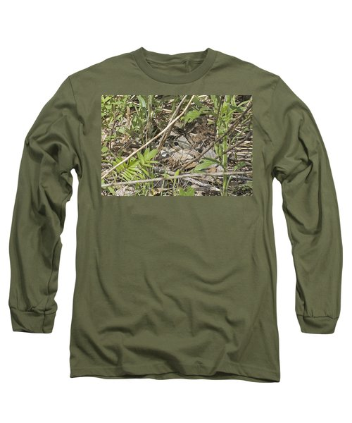 Eye-contact With The Nesting American Woodcock Long Sleeve T-Shirt