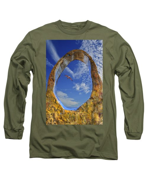 Eye Of Odin Long Sleeve T-Shirt by Paul Wear
