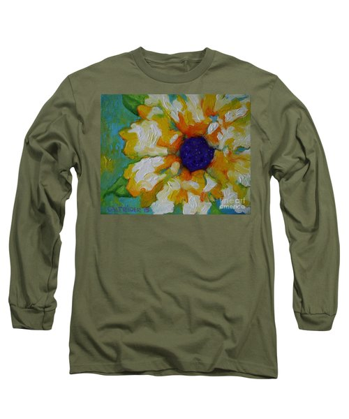 Long Sleeve T-Shirt featuring the painting Eye Of The Flower by Alison Caltrider