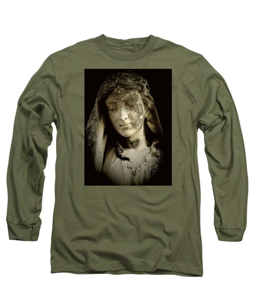 Face Of An Angel 9 Long Sleeve T-Shirt by Maria Huntley