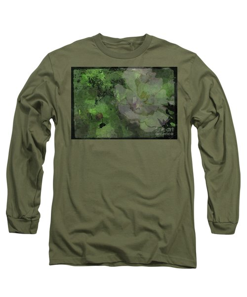 Faded Rose Long Sleeve T-Shirt by Kathie Chicoine
