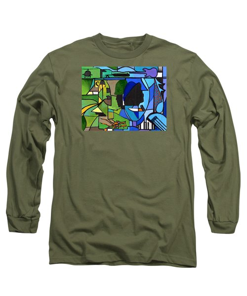 Fading Into Blues Long Sleeve T-Shirt