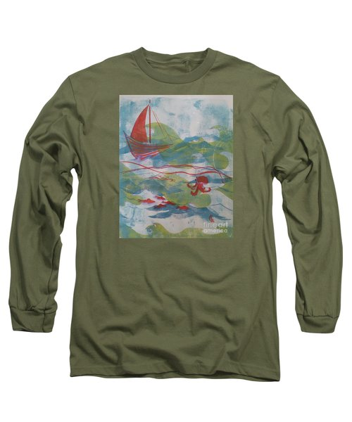 Long Sleeve T-Shirt featuring the painting Fair Winds Calm Seas by Cynthia Lagoudakis