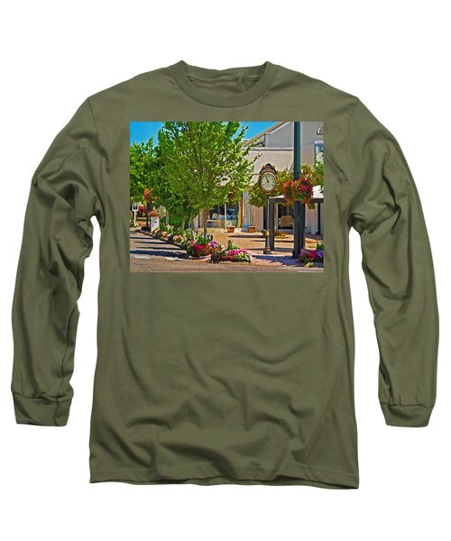Fairhope Ave With Clock Looking North Up Section Street Long Sleeve T-Shirt