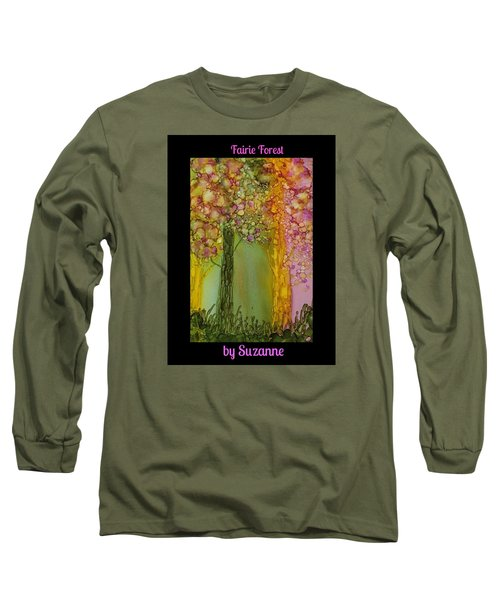Fairie Forest Long Sleeve T-Shirt by Suzanne Canner