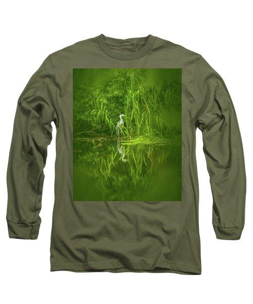 Fairy Tale Heron #g5 Long Sleeve T-Shirt